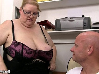 grandma   office   titjob
